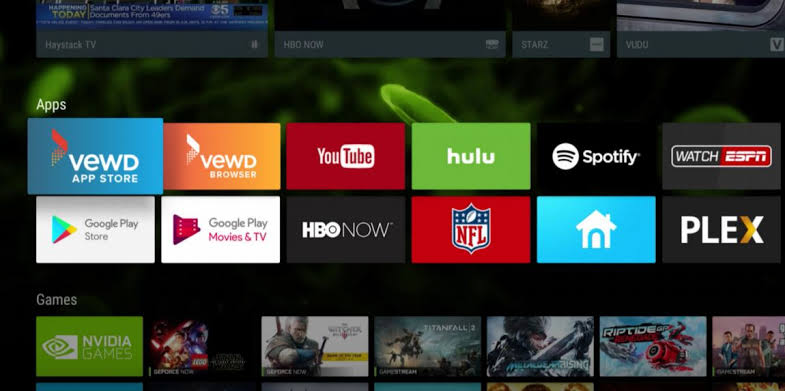 Android TV Home Screen