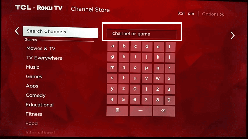 search HBO Max on Roku