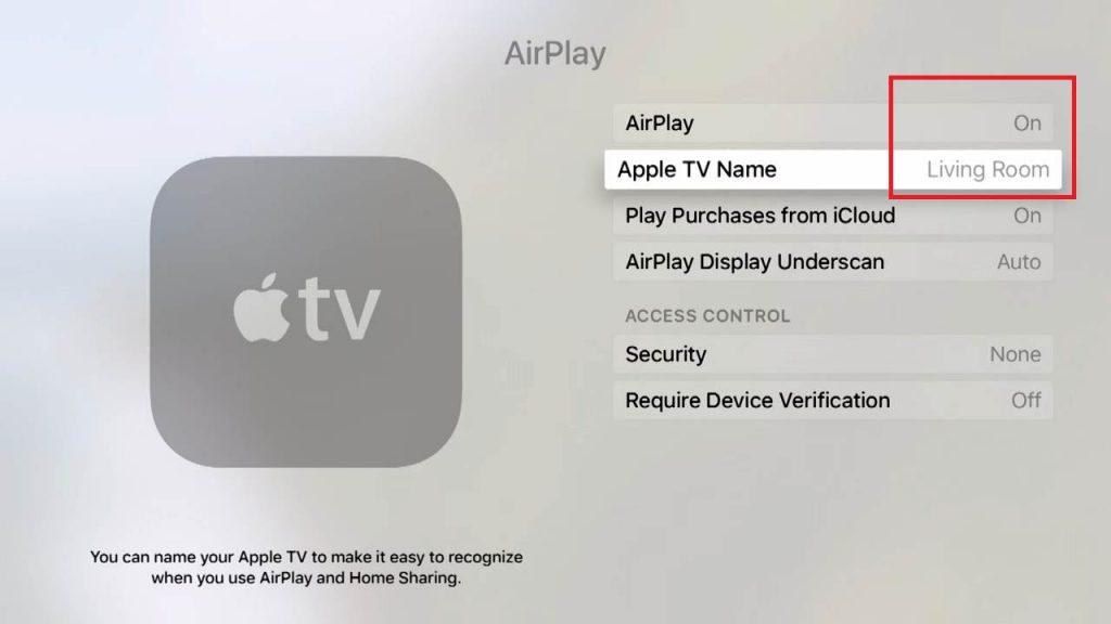 turn on airplay -Google Play Movies on Apple TV
