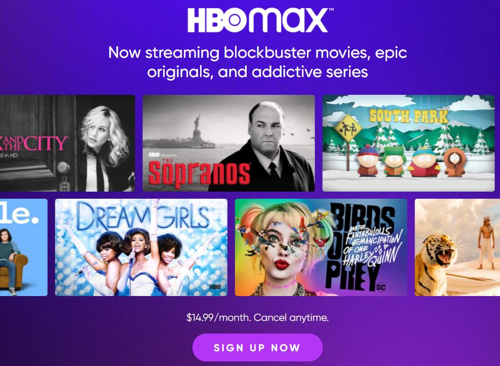 sign up - HBO Max on Roku