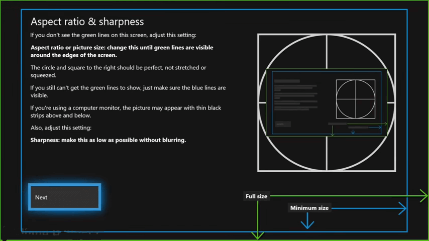 Adjust Screen Size on Xbox One