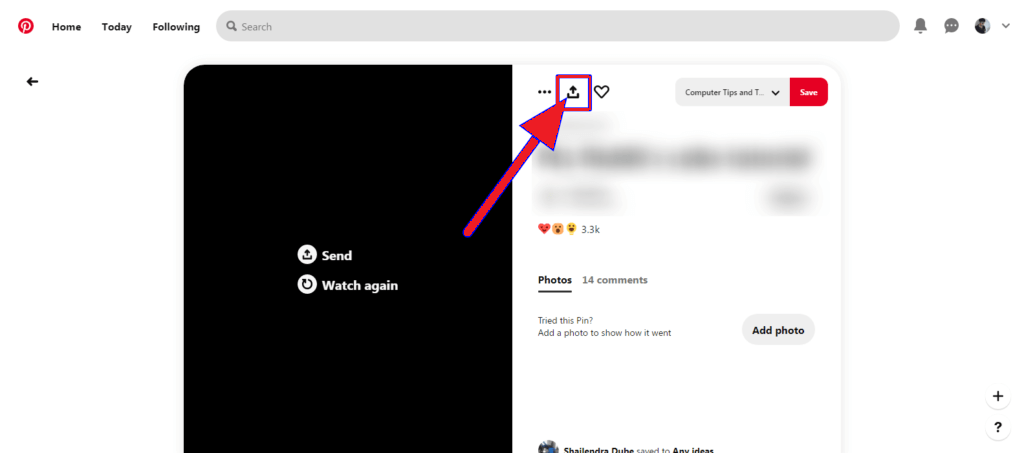 click the share icon