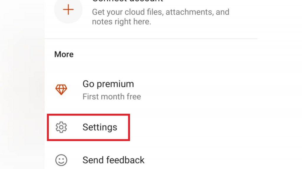 select settings - Microsoft Office Dark Mode