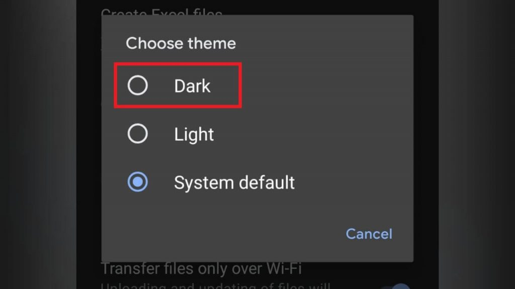 tap Dark - Microsoft Office Dark Mode