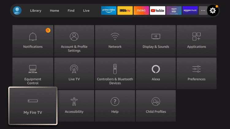 Select My Fire TV - OpenVPN on Firestick