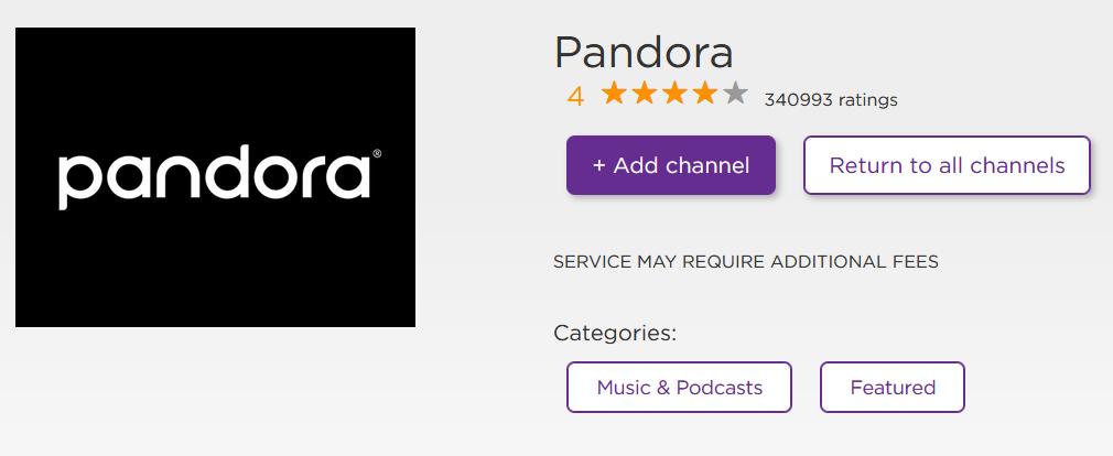 Pandora on Roku