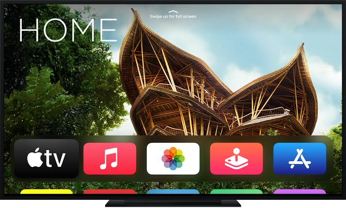 Apple TV home screen