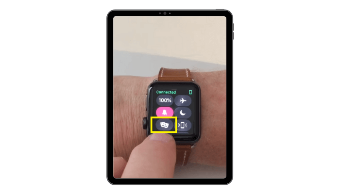 Theater Mode icon on Apple Watch