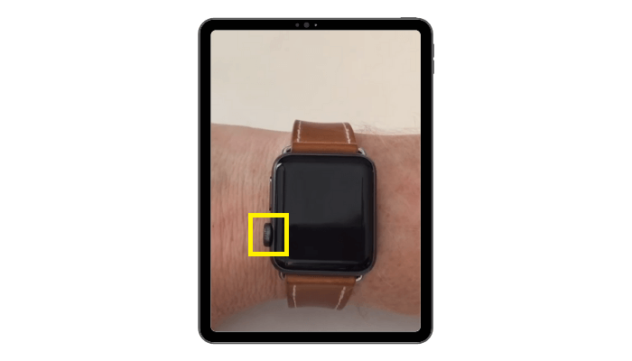 power button - Theater Mode on Apple Watch