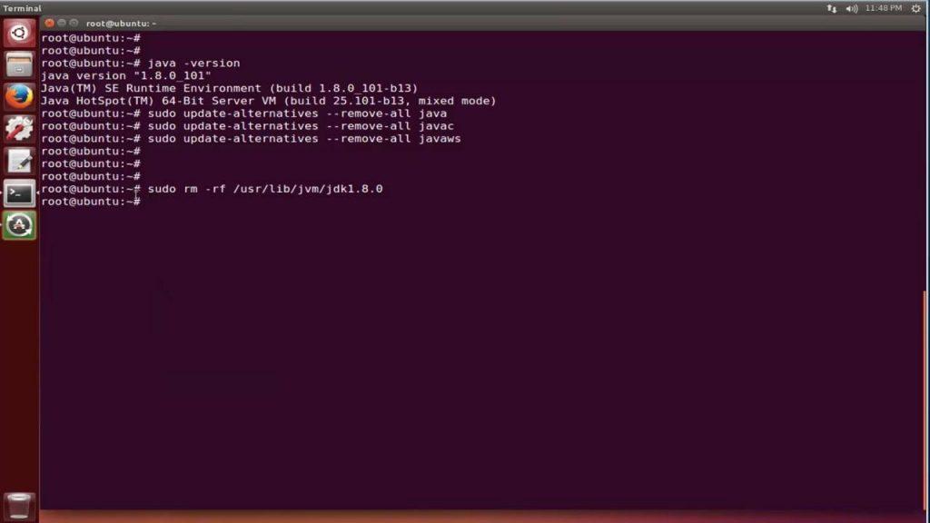 Uninstall Java Ubuntu