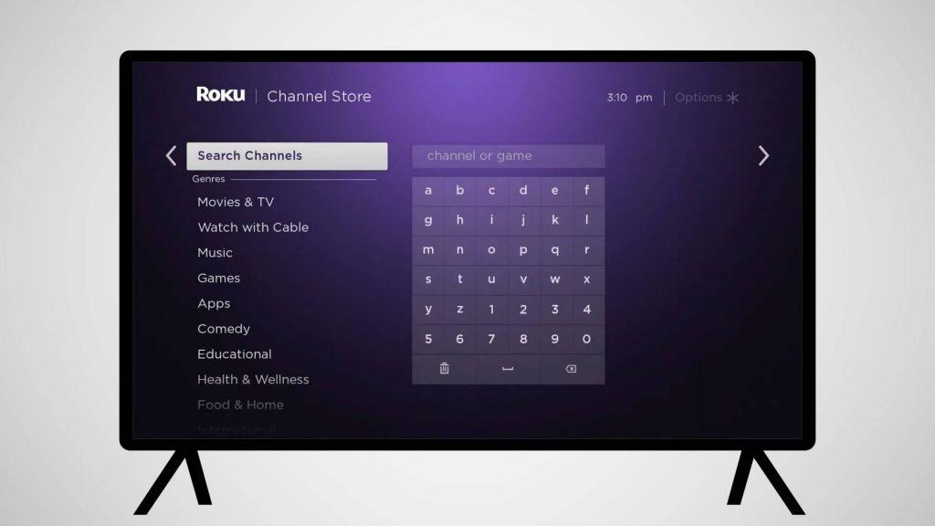search channels - VH1 Roku
