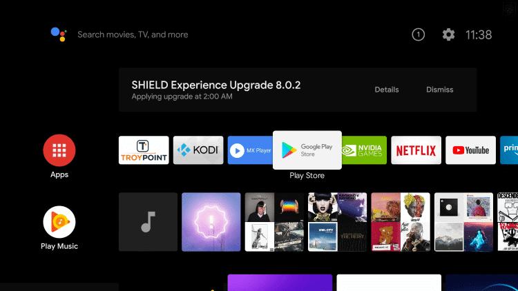Click Apps - Apple TV on Nvidia Shield