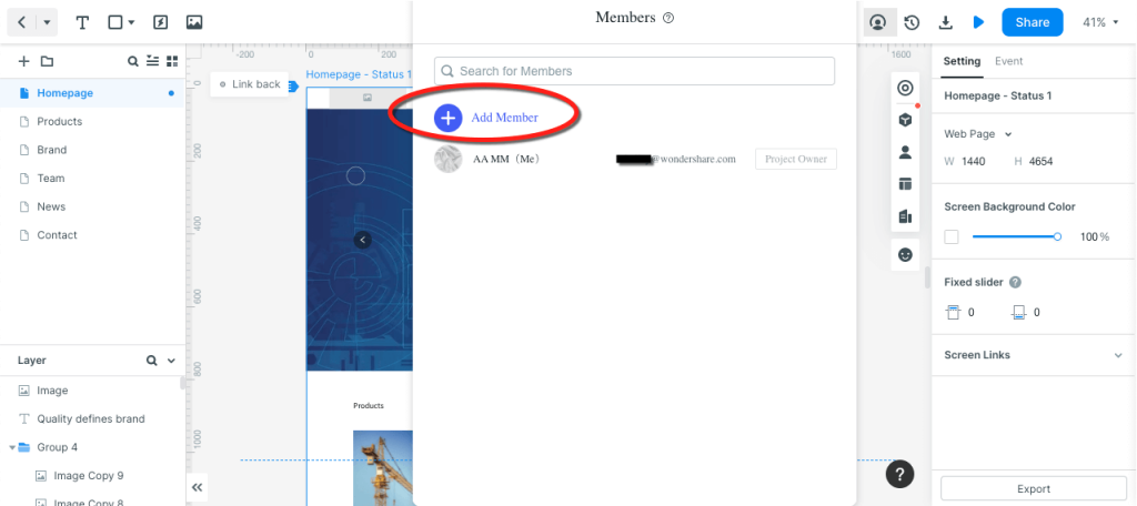 Wondershare Mockitt - Best UXPin Alternative