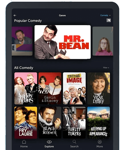 Select cast icon to Chromecast BritBox
