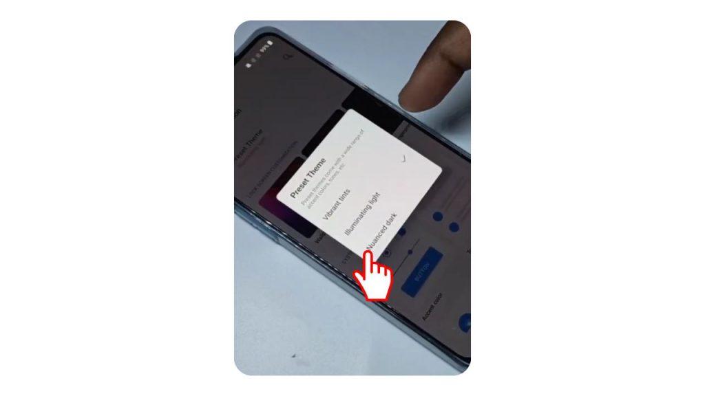 select Nuanced Dark theme - Dark Mode in OnePlus Nord
