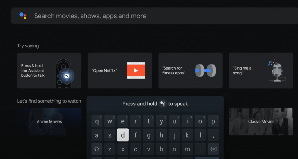 Discovery Plus on Google TV- type discovery plus