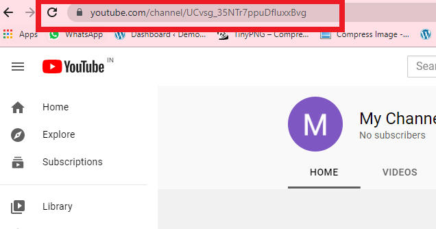 copy the URL from address bar