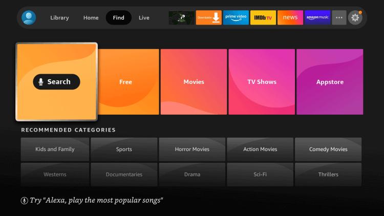 Amazon Home Screen