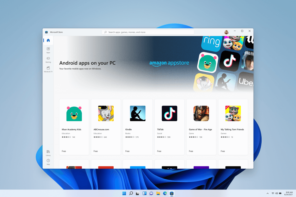 Android apps on Microsoft Store