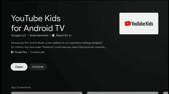 YouTube Kids on Google TV