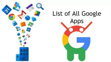 Google Apps List