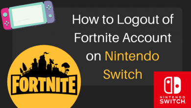 How to logout of Fortnite Account on Nintendo Switch