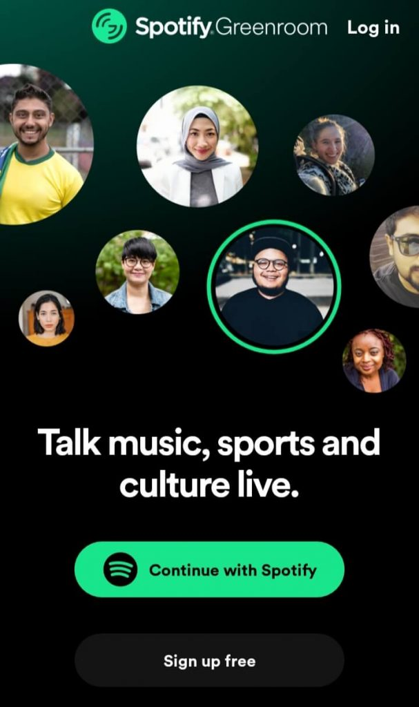 Select Continue with Spotify