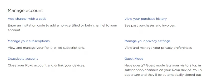 choose the Manage your Subscription.