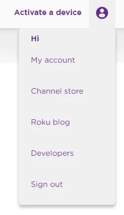 Cancel Subscription on Roku: click My Account.