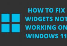 How to Fix Widgets not Working on Windows 11