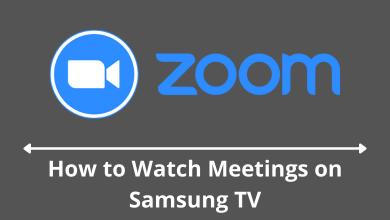 Zoom on Samsung Smart TV