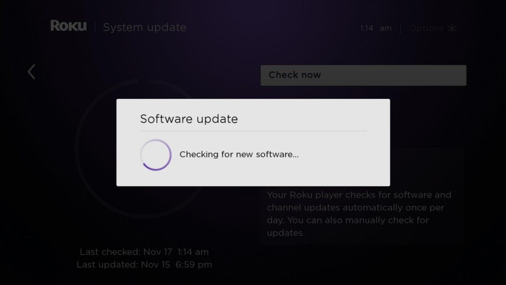 Check for new software