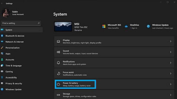 Check Screen on Time in Windows 11