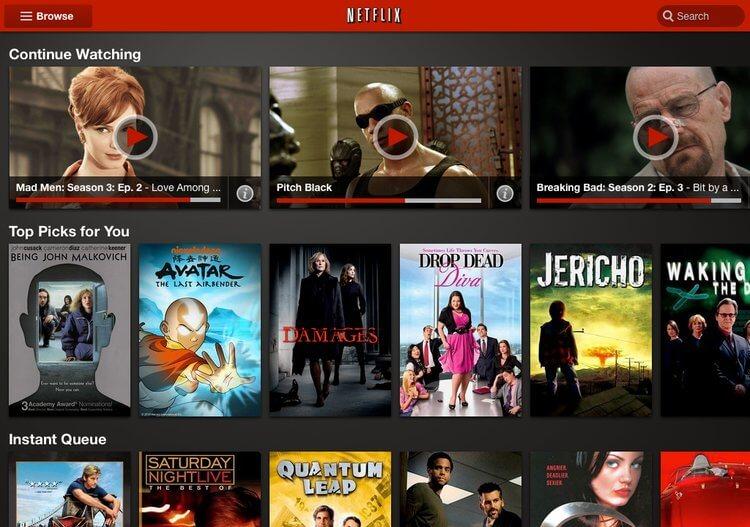 Search Netflix