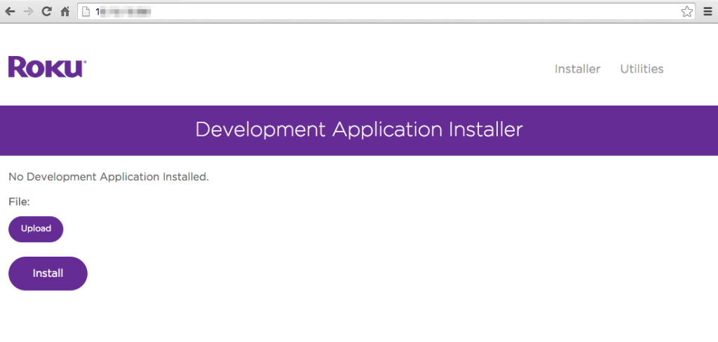Access the Roku Developer Mode