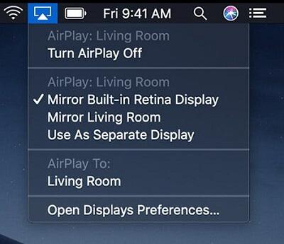 Screen Mirroring Mac to stream Sky Go on Roku