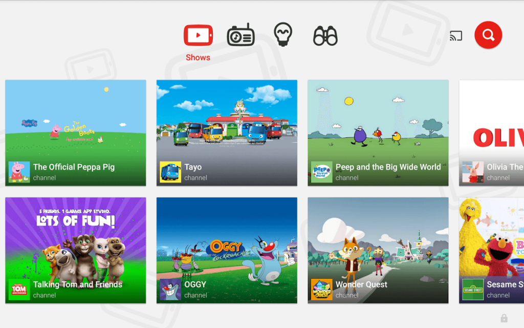 Youtube Kids on Android TV