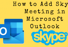 How to Add Skype Meeting in Microsoft Outlook