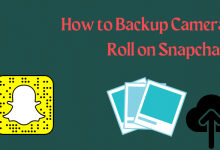 How to backup Camera Roll on Snapchat