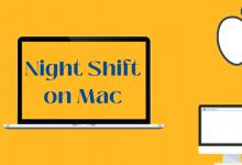 Night Shift on Mac