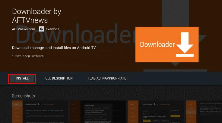 Install Downloader app